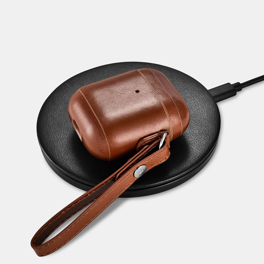 iCarer original Leather Case for Airpods 2