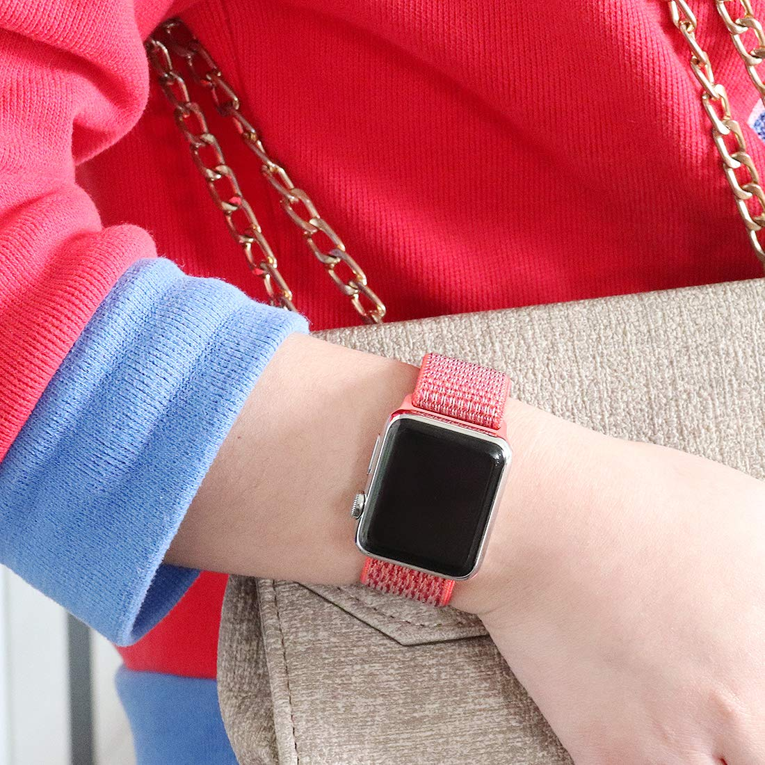 Apple watch nylon stpors strap Nectarine 2