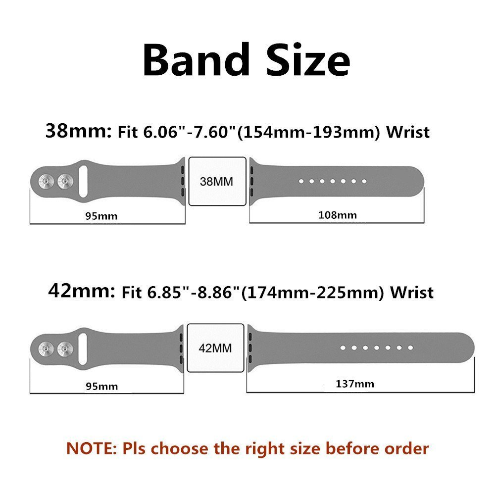 Apple watch Dual silicon Band 5