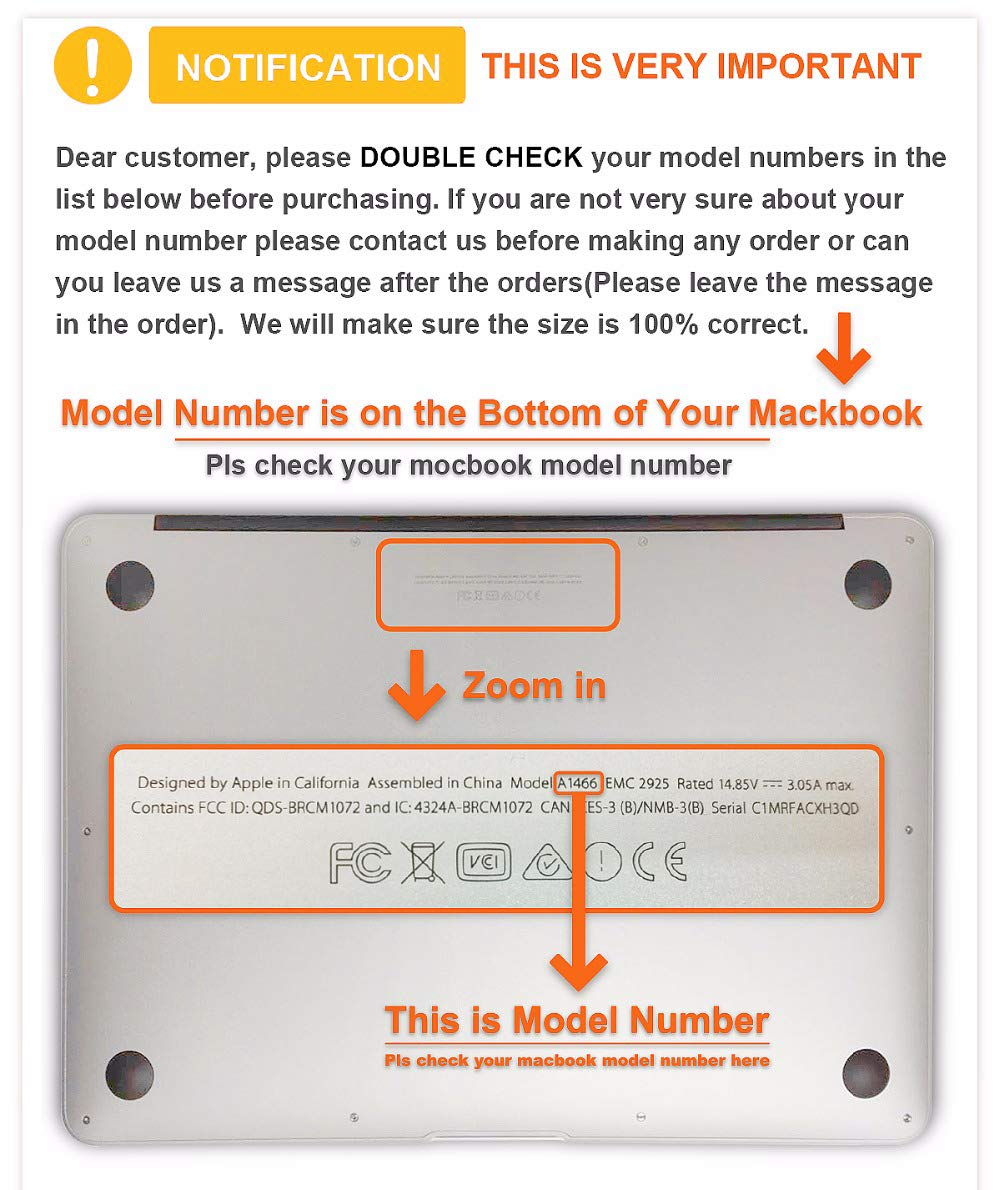 Macbook Plastic Hardshel Cae/ Macbook Protector