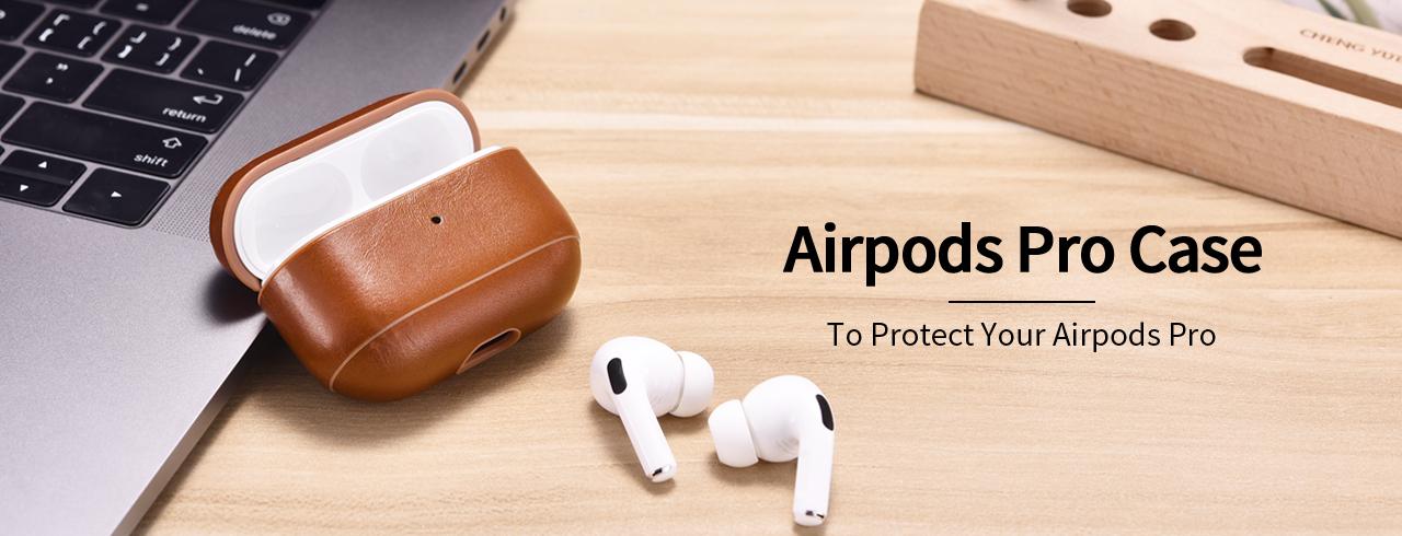 iCarer AirPods Pro Case. Premium Leather Case