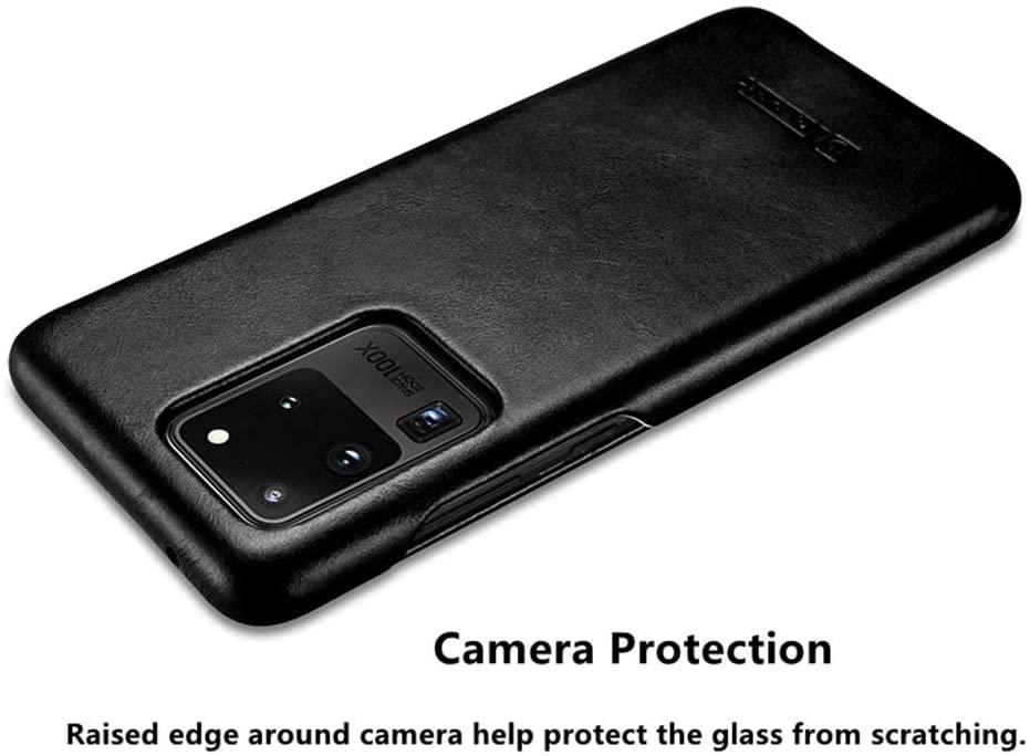iCarer Genuine Leather case for samsung s20 Ultra 6