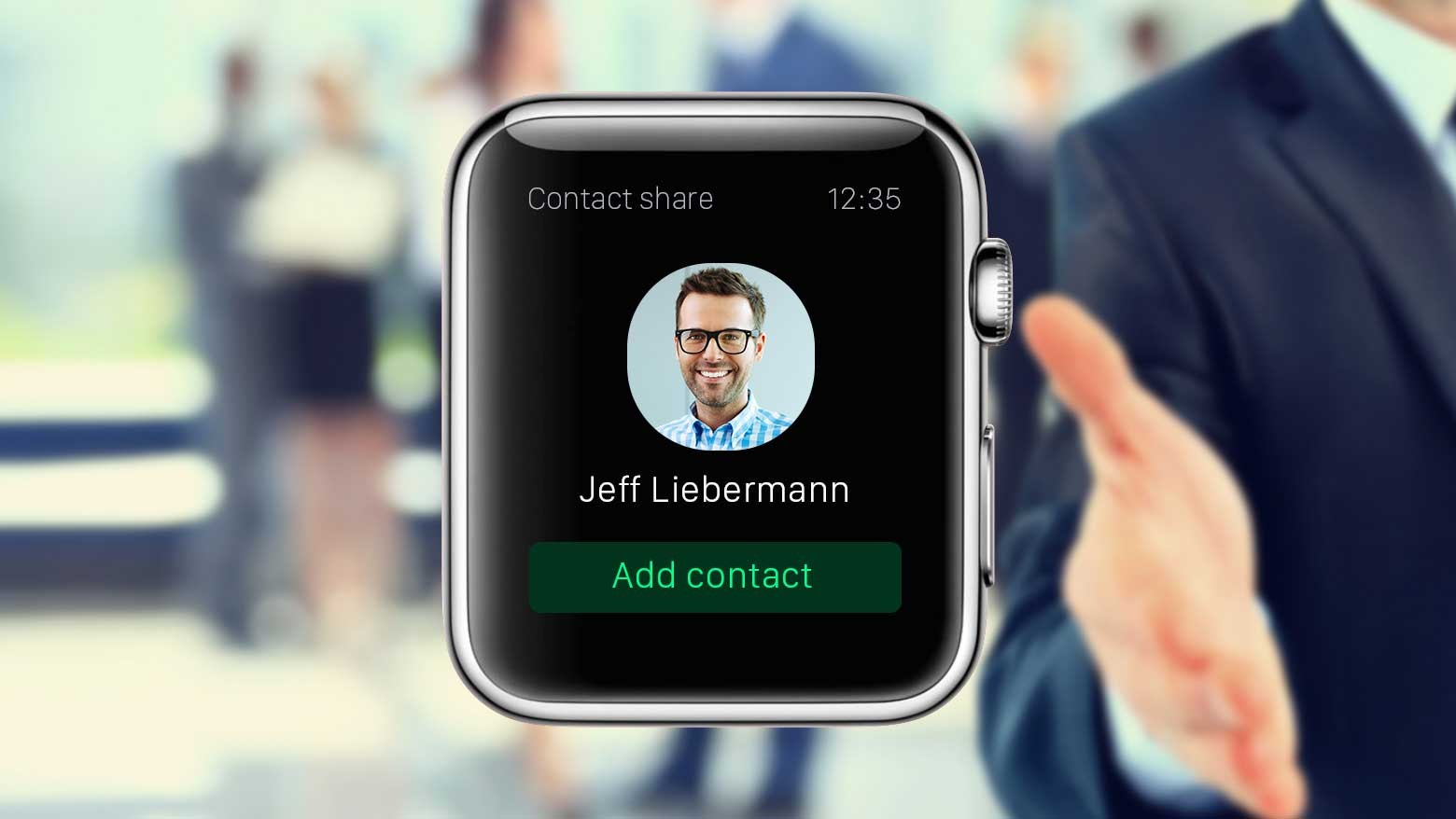 sharing contact with apple watch