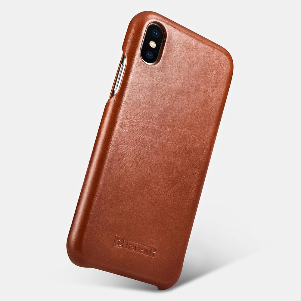 iCarer Vintage Leather Flip Cover for iPhone XS