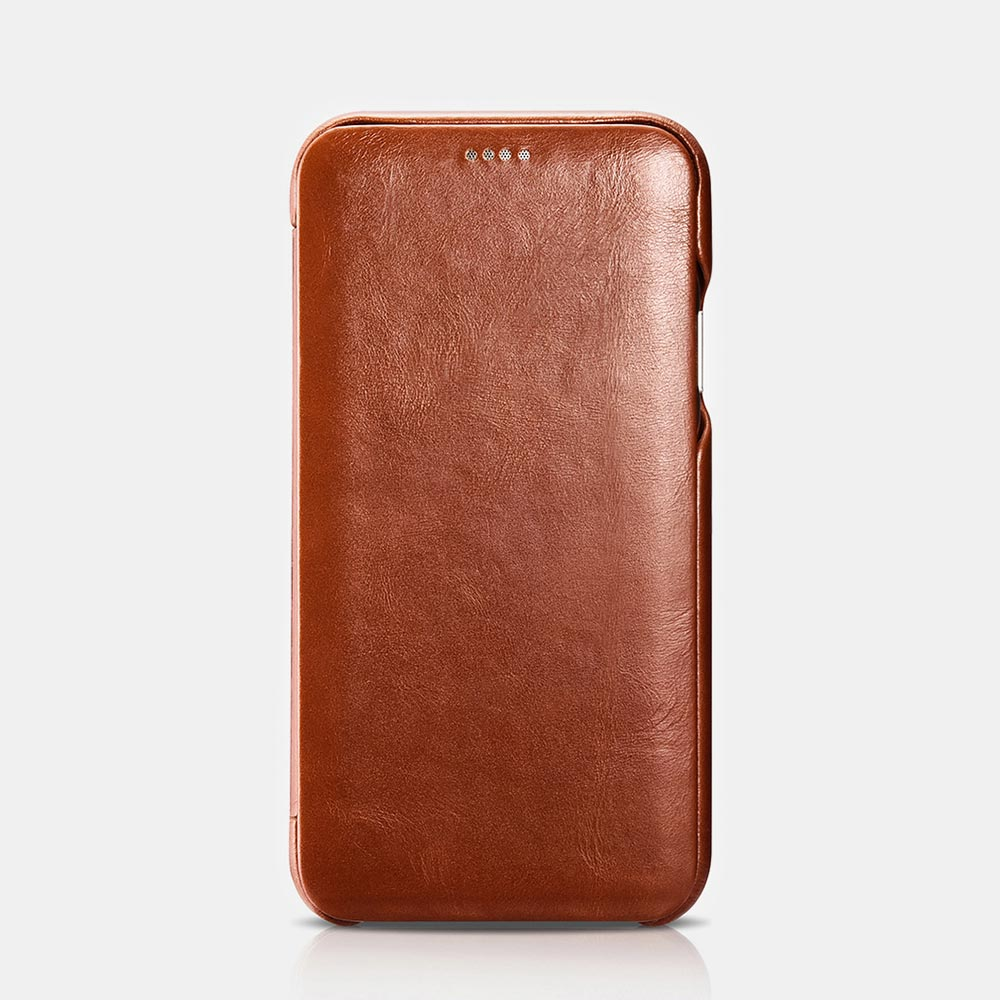 iCarer Vintage Leather Flip Cover for iPhone XS Max