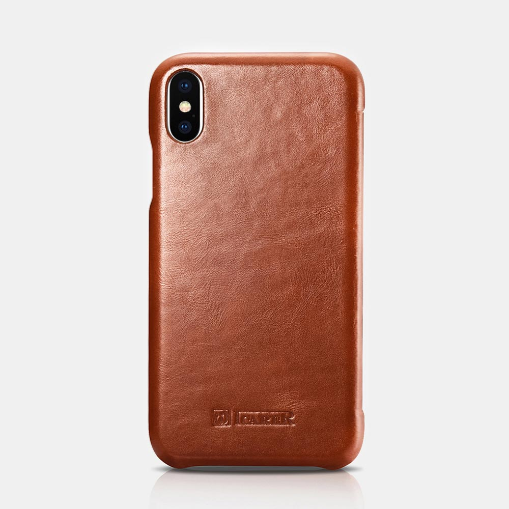 iCarer Vintage Leather Flip Cover for iPhone X