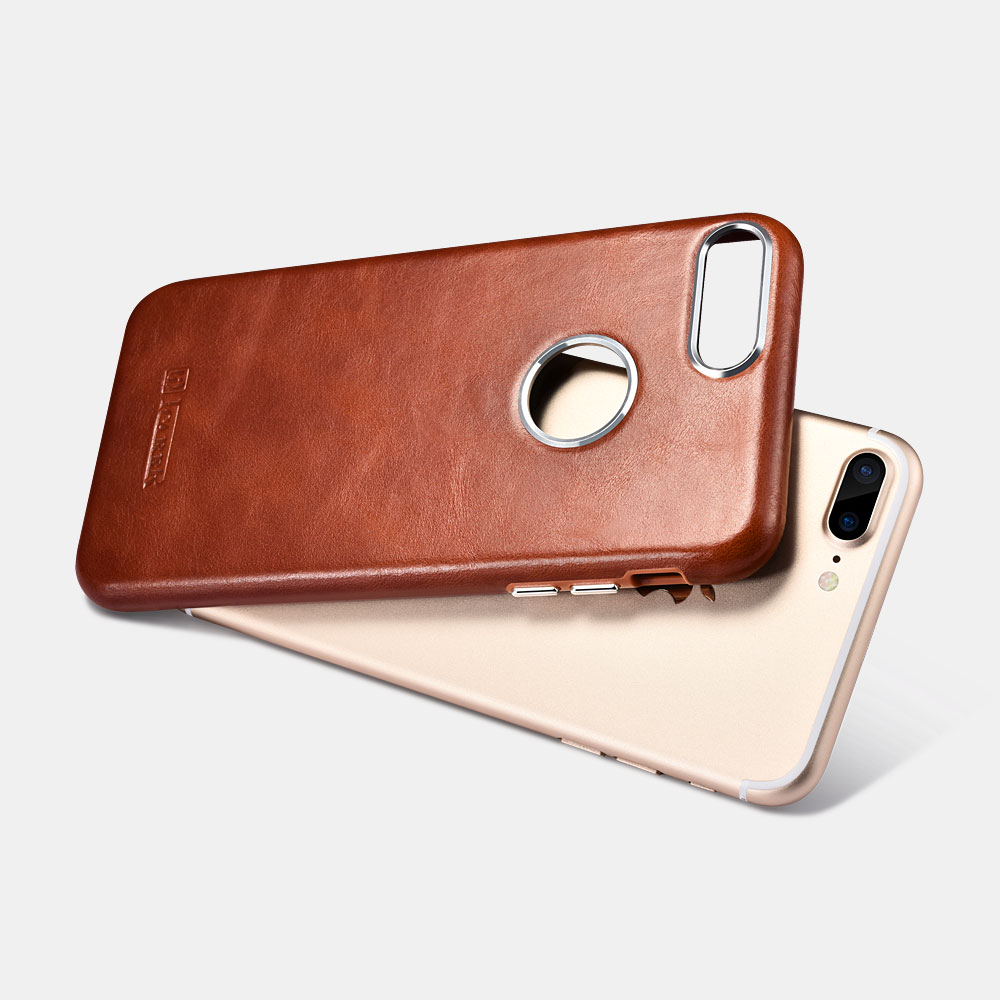 iCarer Original Leather Back Case for iPhone 7 Plus