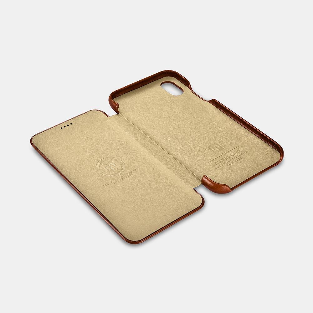 iCarer Vintage Leather Flip Case for iPhone X