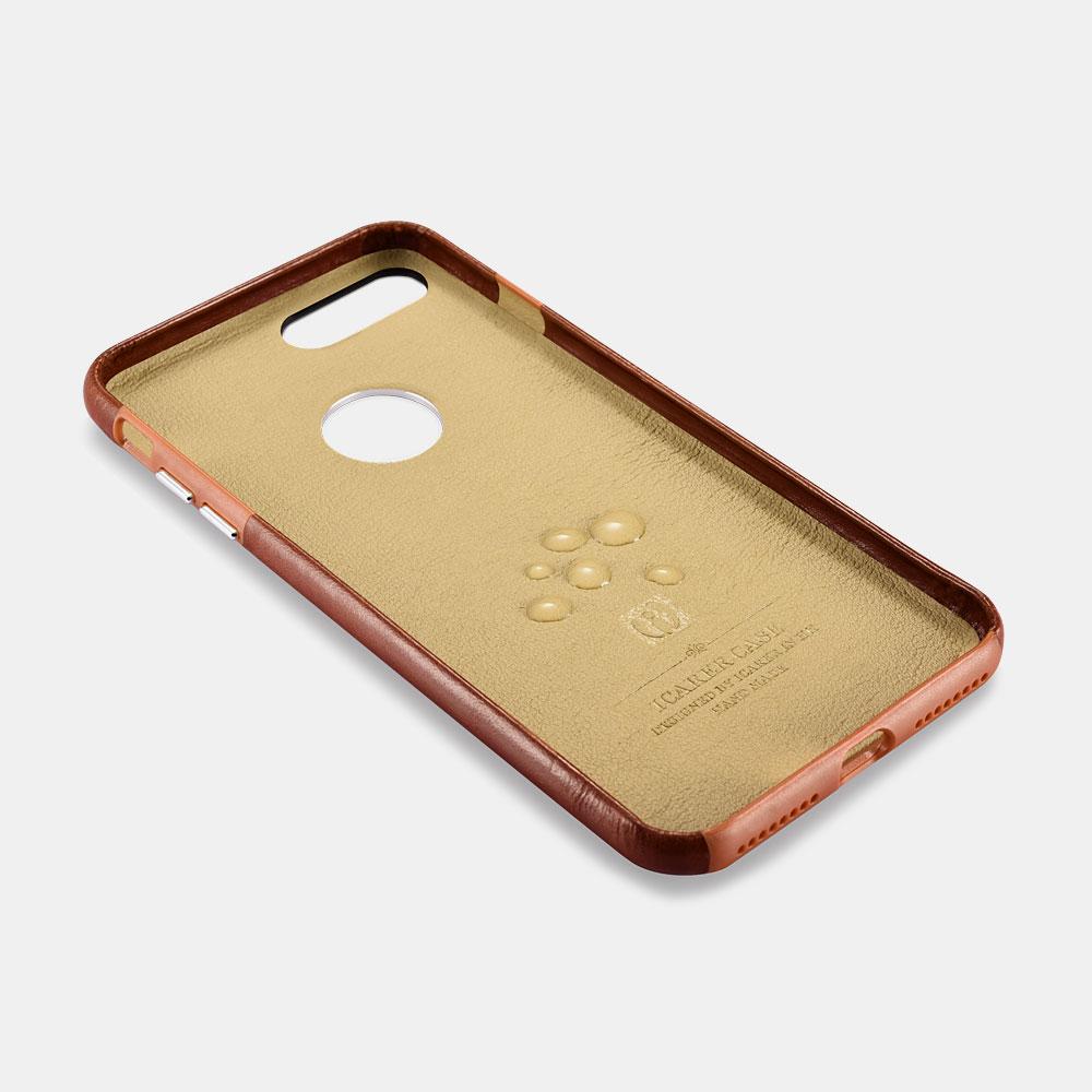 iCarer Original Leather Back Case for iPhone 8 Plus