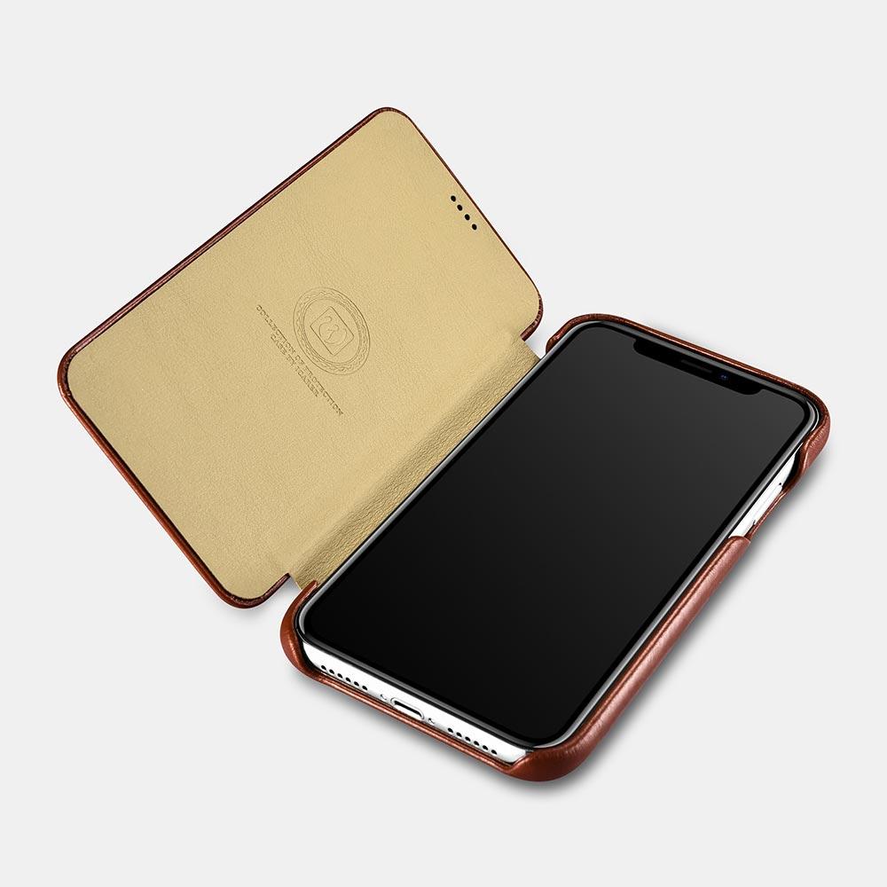 iCarer Vintage Leather Flip Case for iPhone XS