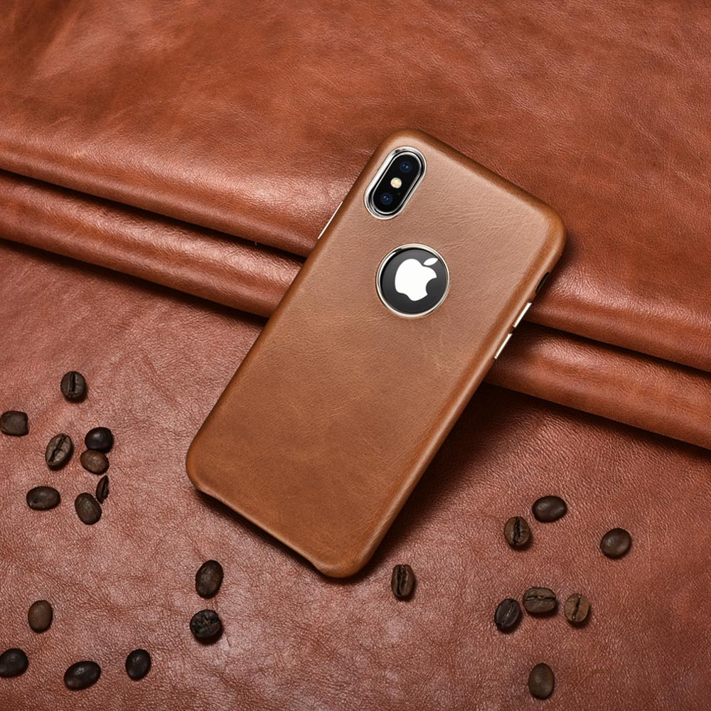 Leather Back cover for iPhone
