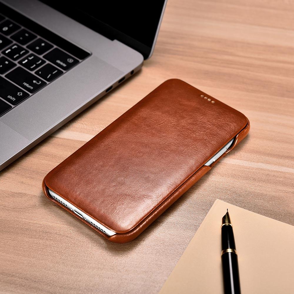iCarer Vintage Leather Flip Case for iPhone