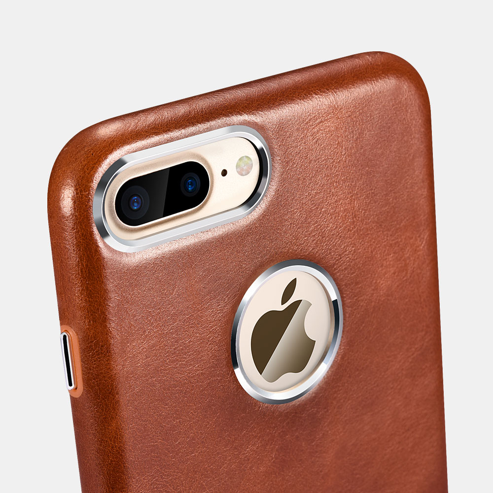 iCarer Original Leather Back Cover for iPhone