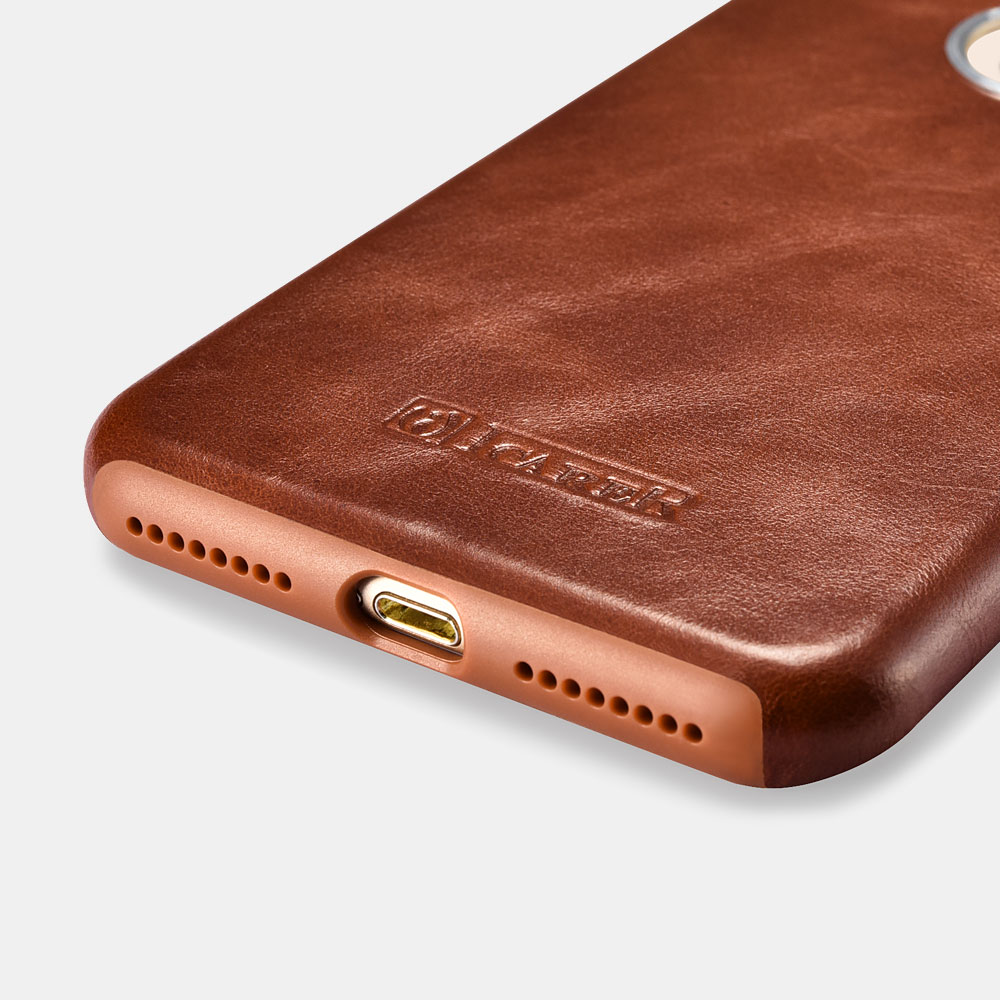iCarer Original Leather Back Cover for iPhone 8 Plus
