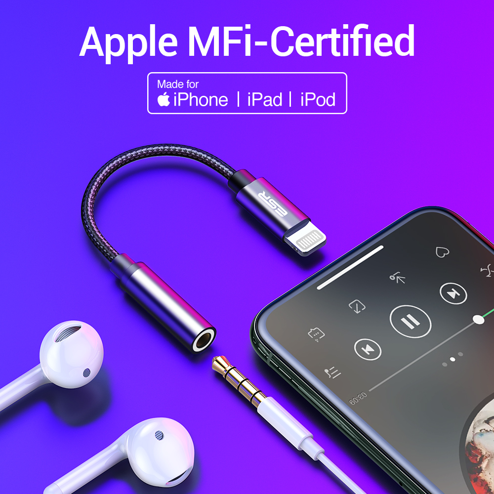 Apple Certified Lightning audio converter for iPhone X