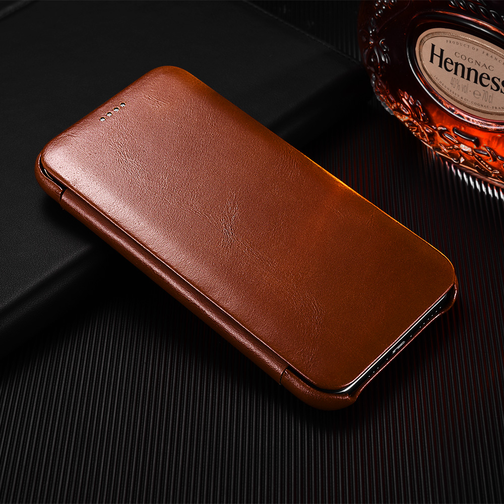 iCarer Original Leather Case for iPhone 11