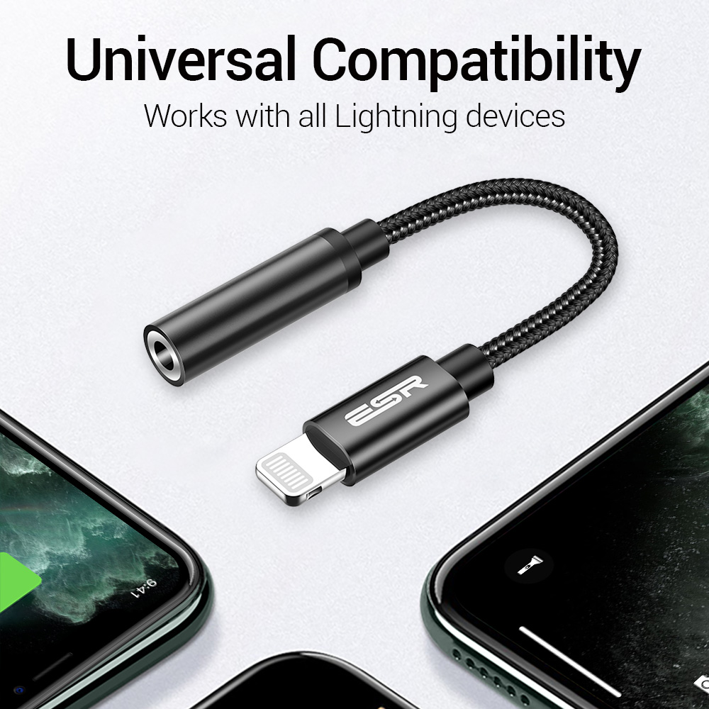 Apple Certified Lightning audio converter for iPhone 11 Pro