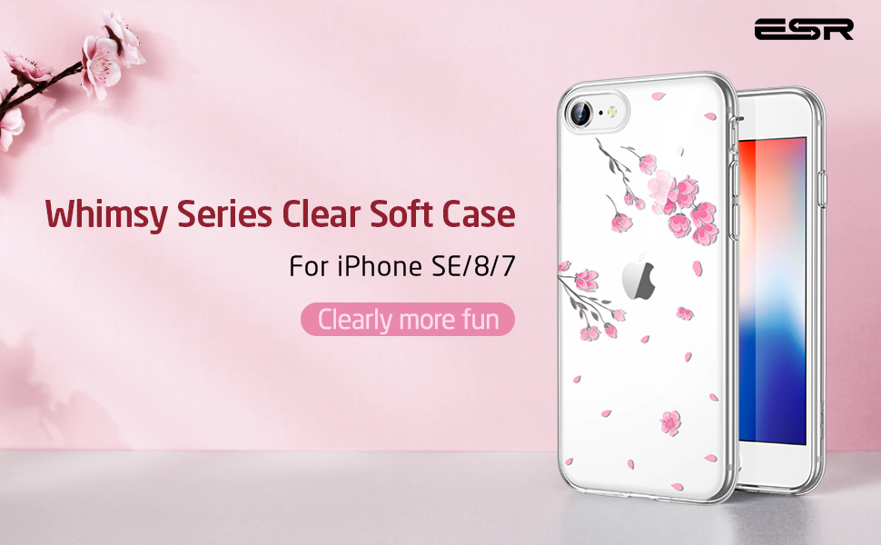 iPhone New SE Clear Transparent TPU Case for Girls