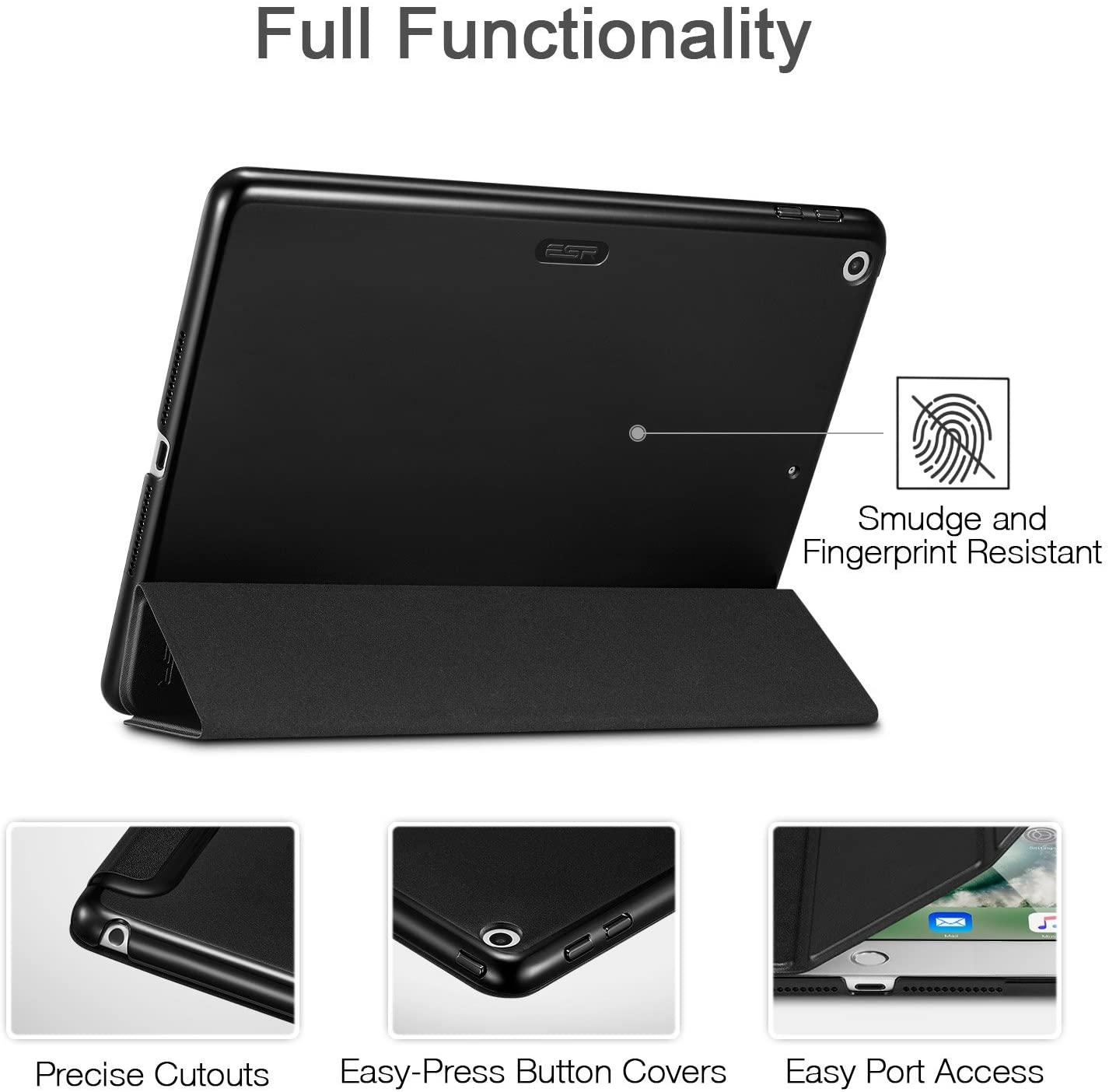 ESR iPad case comes with precise cutouts and easy press button design