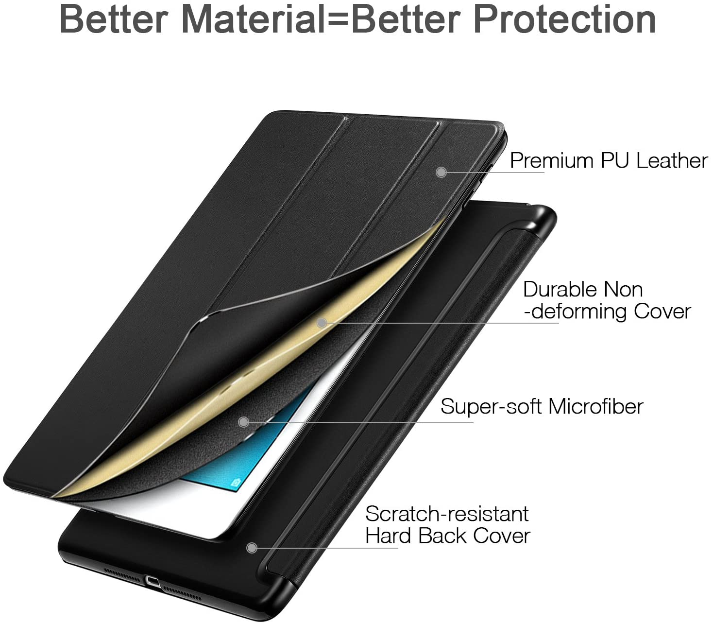 ESR iPad Case made from high quality PU lather