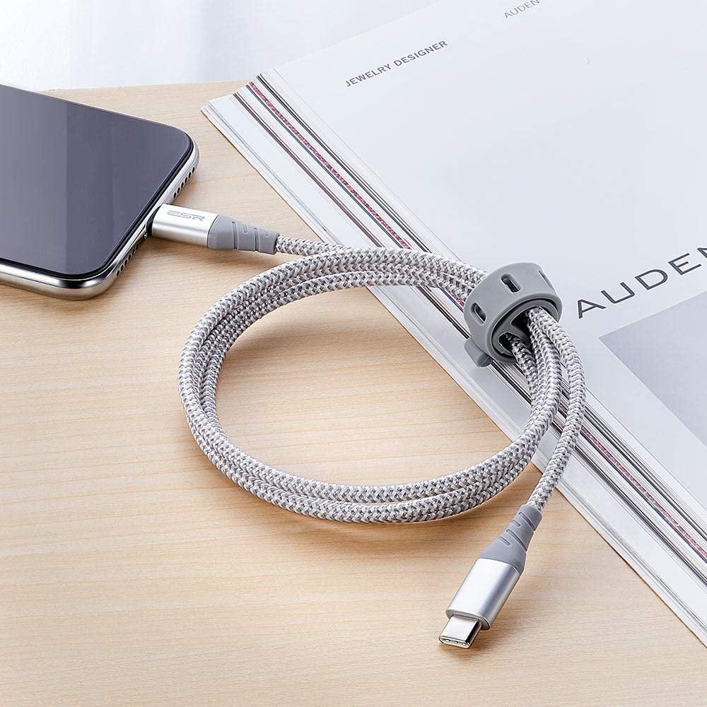 USB C to Lightning Cable Silver Color