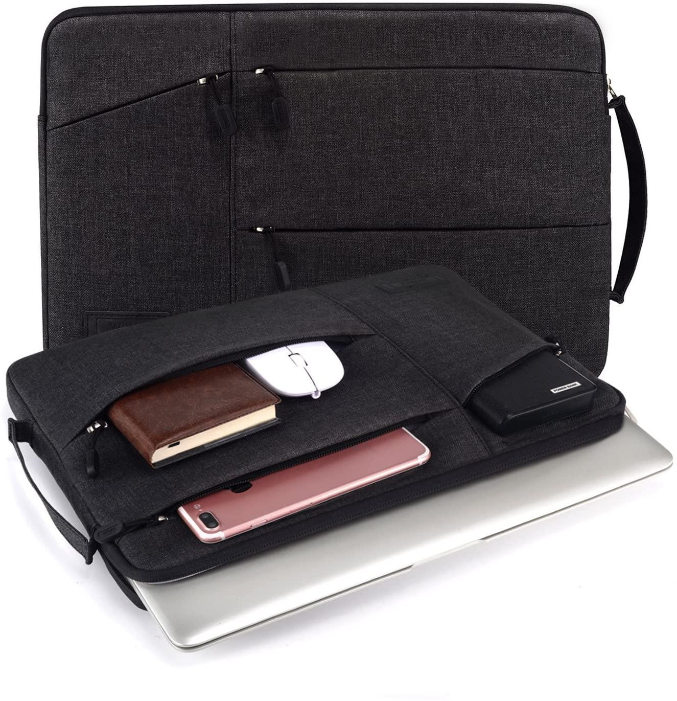 WIWU Laptop Sleeve for Macbook Black Color Bags