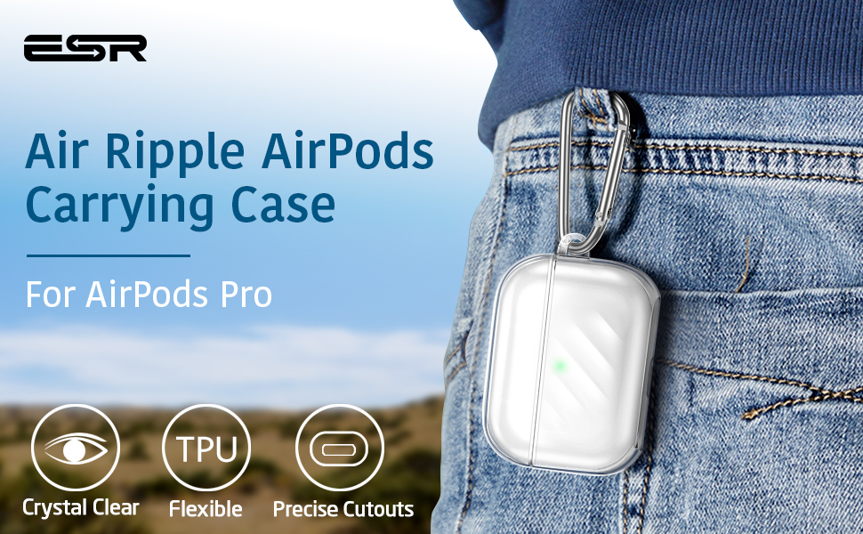 ESR Upgrade Clear Silicone Case for AirPods Pro Case 2019