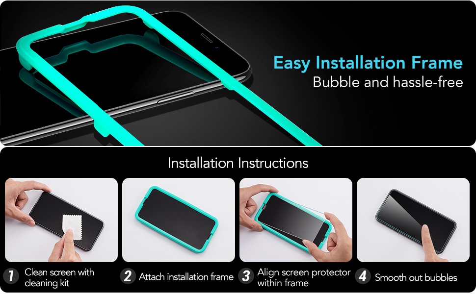 esr iphone protector clear