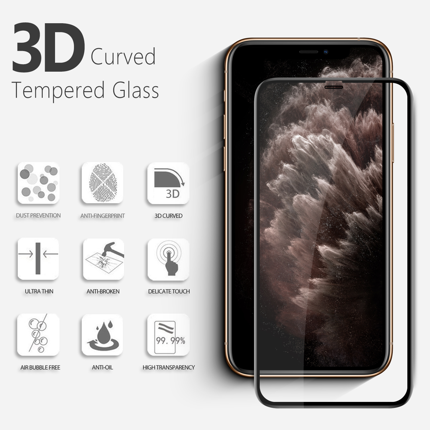Vmax Tempered Glass screen protectors for iPhone XS