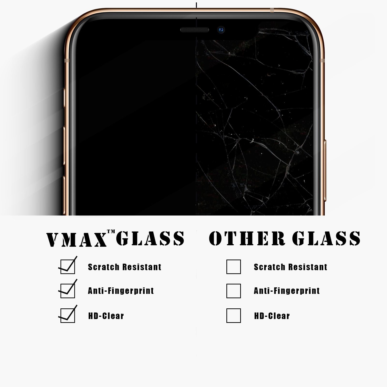 Vmax Tempered Glass screen protectors for iPhone 11