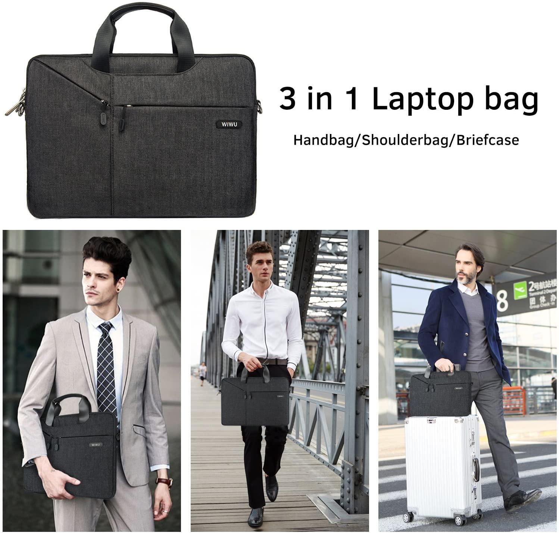 WIWU 13.3 Inch Laptop Sleeve Case Messenger Shoulder Bag