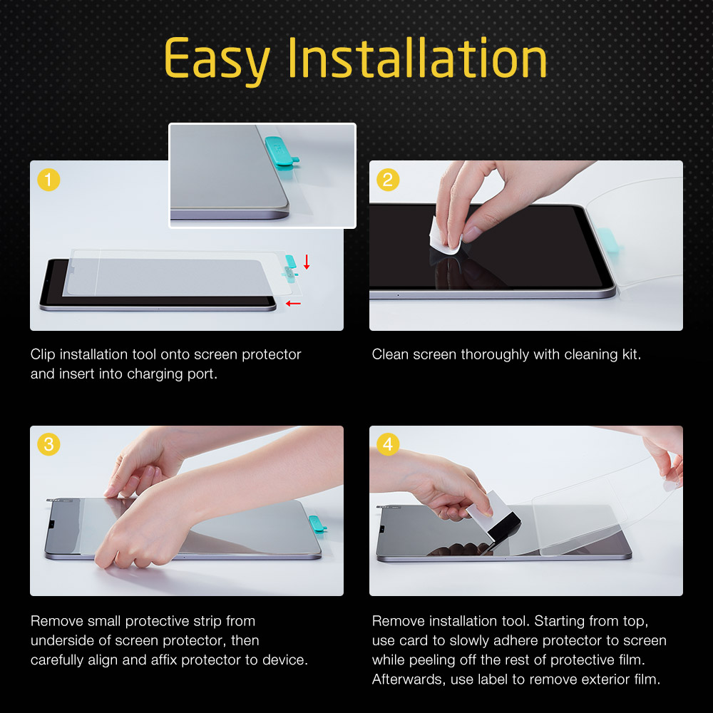 How to install ESR screen protector on iPad
