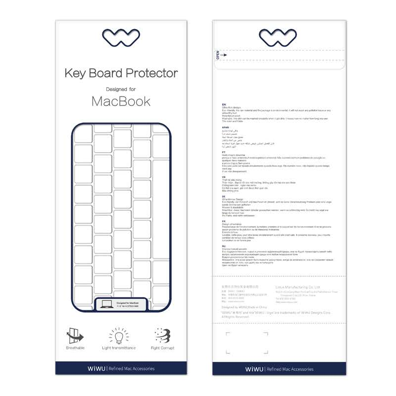 WIWU Transparent Keyboard Protector for Macbook