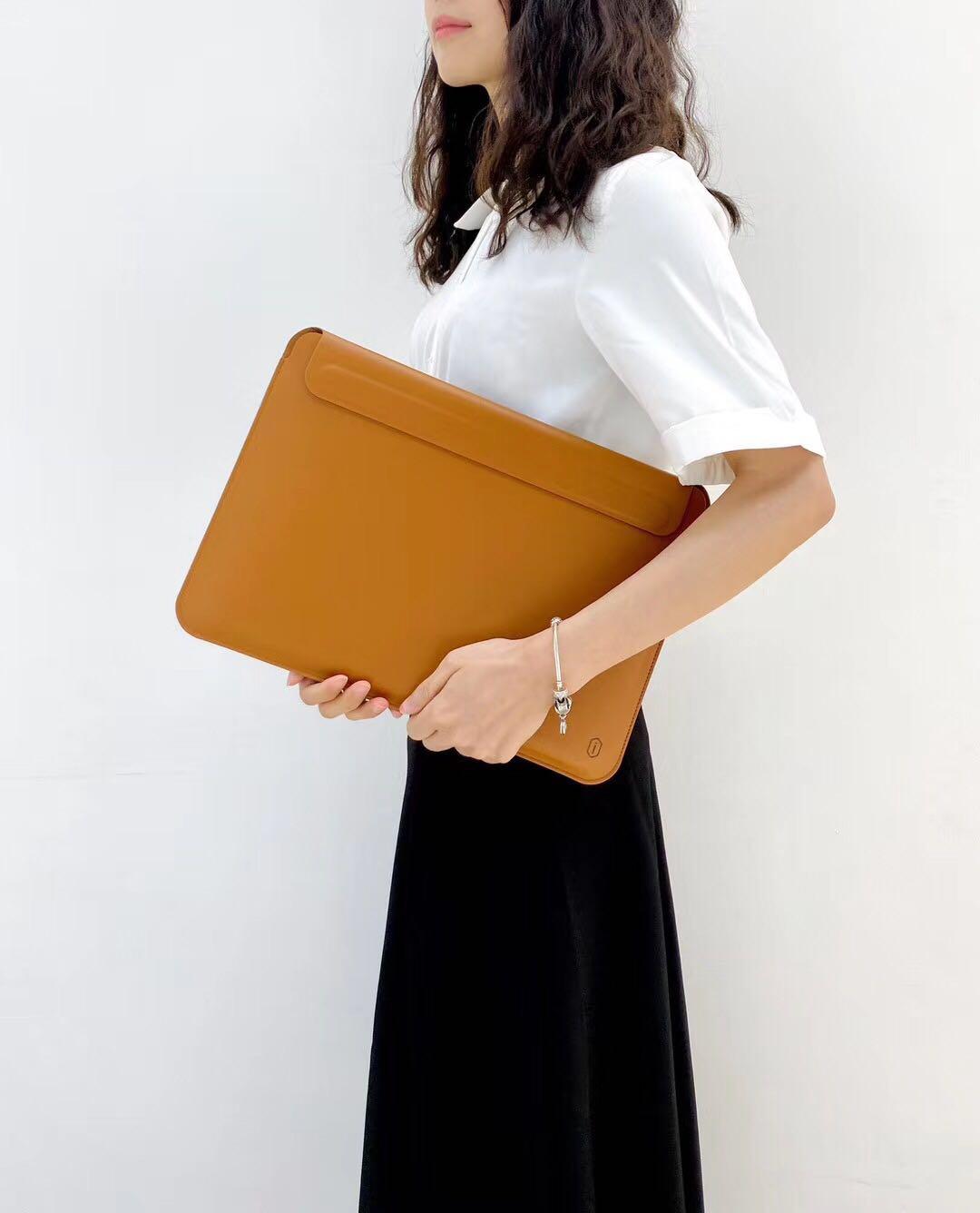 WIWU Skin Pro II PU Leather Waterproof Sleeve for MacBook [Brown]