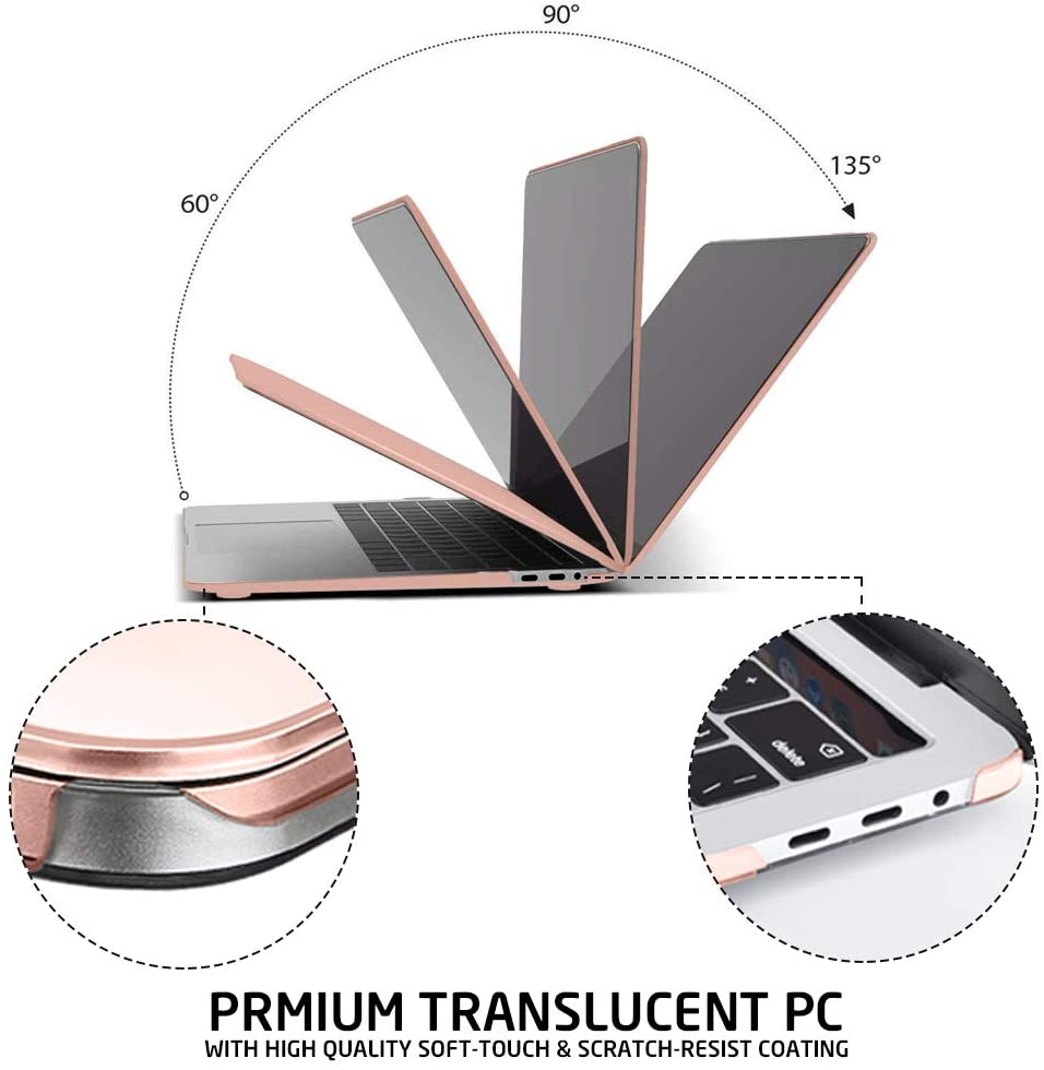 Premium Translucent Plastic Case for Macbook with high quality soft touch and scratch resist coating