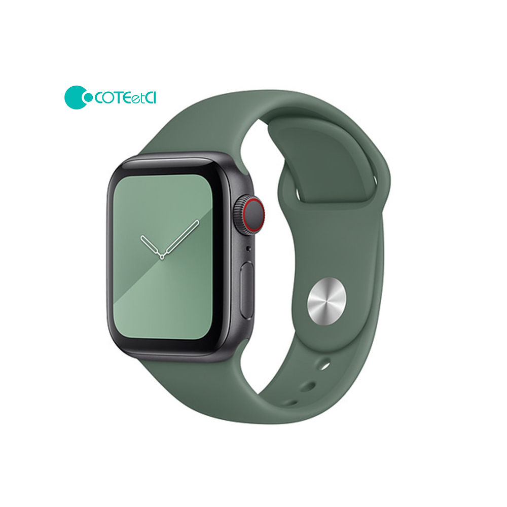 Apple Watch soft silicone sport bands Pine Green