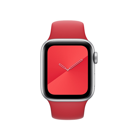 Soft Silicone Sport Band red for apple watch 44mm