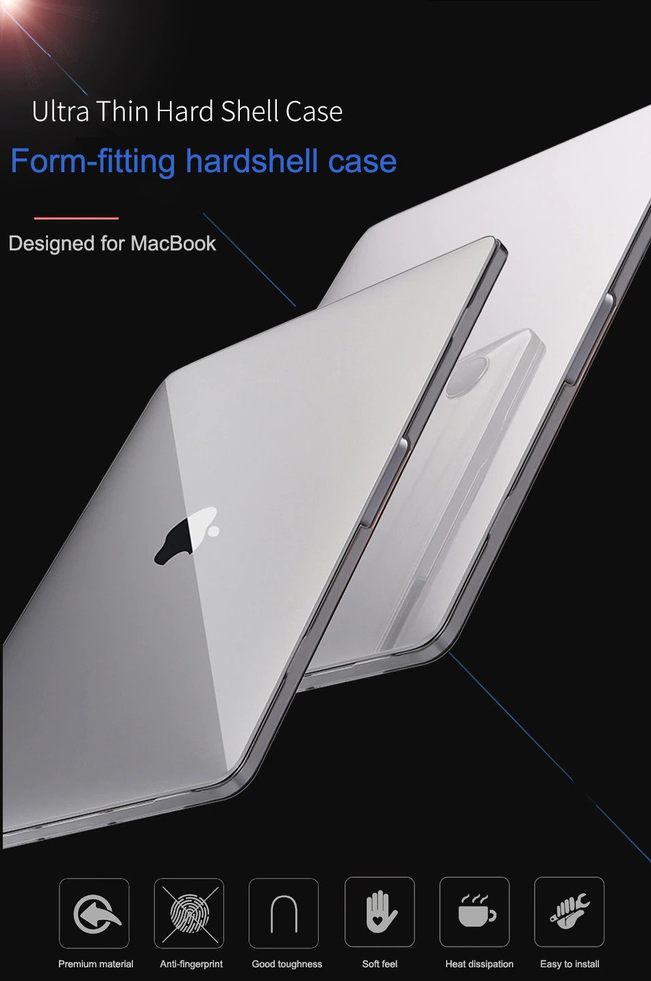 Ultra Thin Hard Shell Case Designed for Macbook