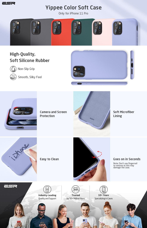 iPhone 11 Silicone Case Purple by ESR