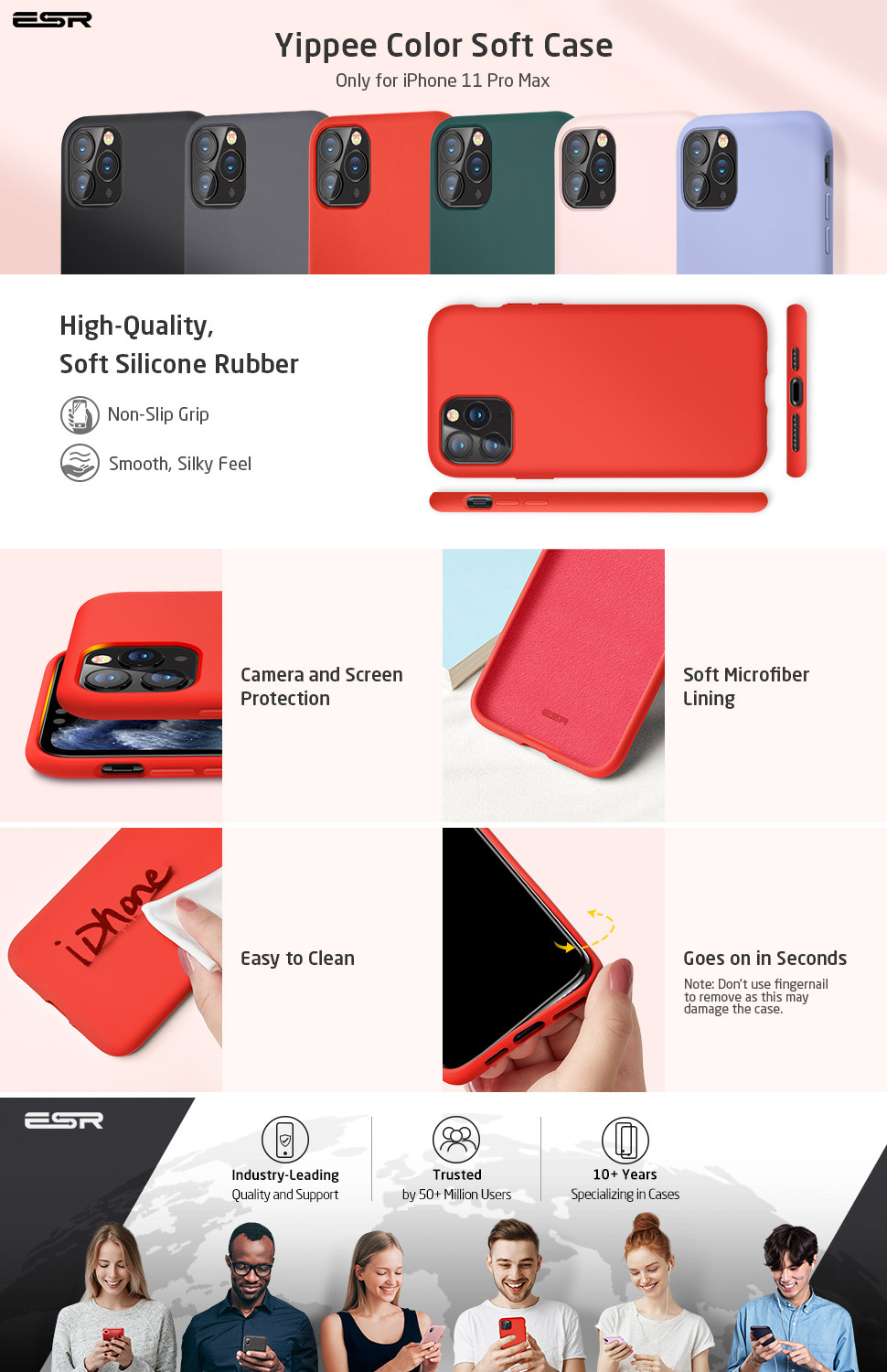 iPhone 11 Pro Max Silicone Case Red by ESR