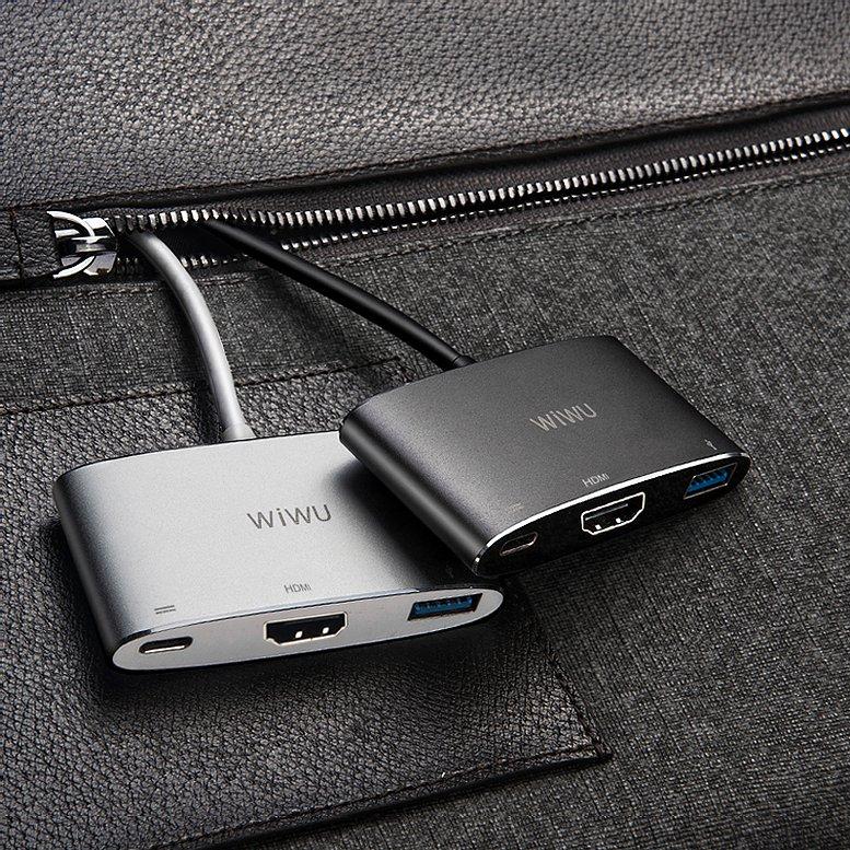 3 in one USB C hub for Macbook