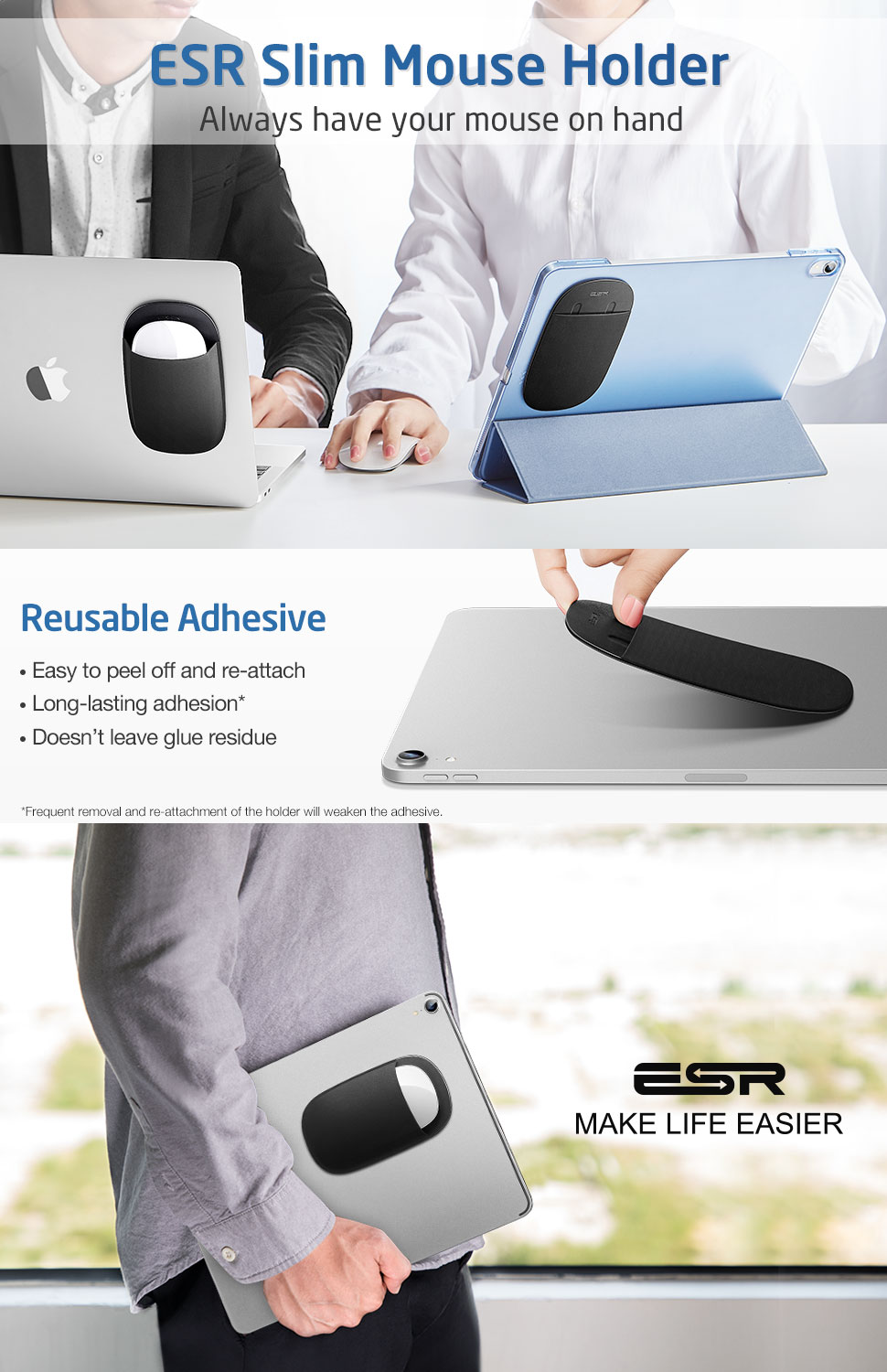 ESR Slim Mouse Holder Always Have your Mouse on Hand