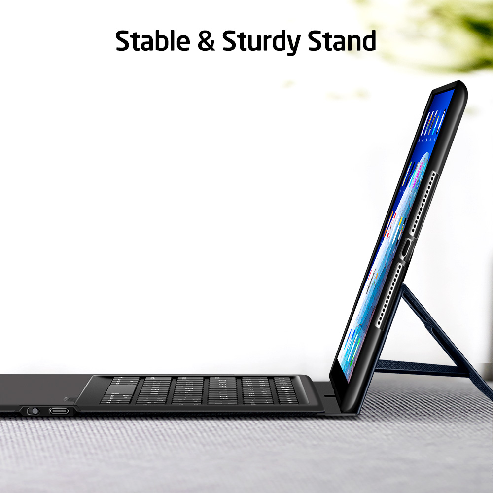 ESR iPad Bluetooth Keyboard Folio Case with Stable stand