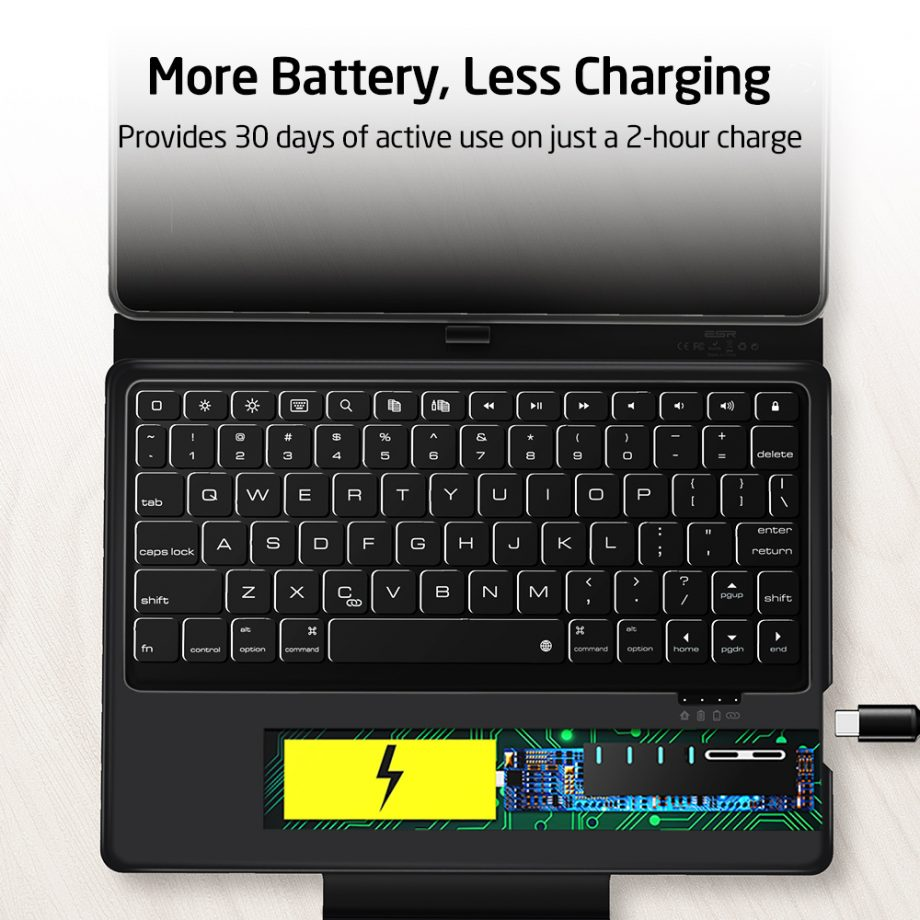 ESR iPad Bluetooth Keyboard Folio Case with active use