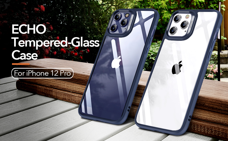 iPhone 12/12 Pro Echo Tempered-Glass Hard Case