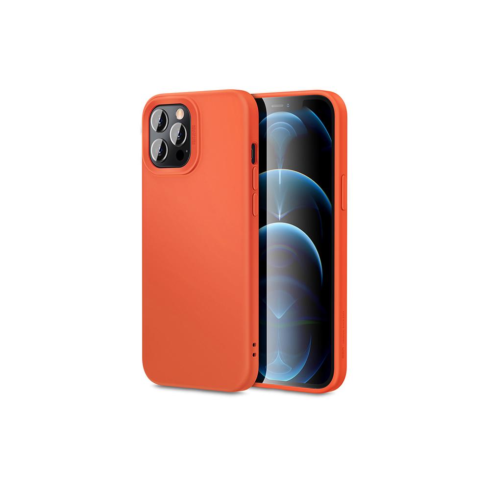 ESR Soft Silicone Case Coral-orange for iPhone 12 Pro