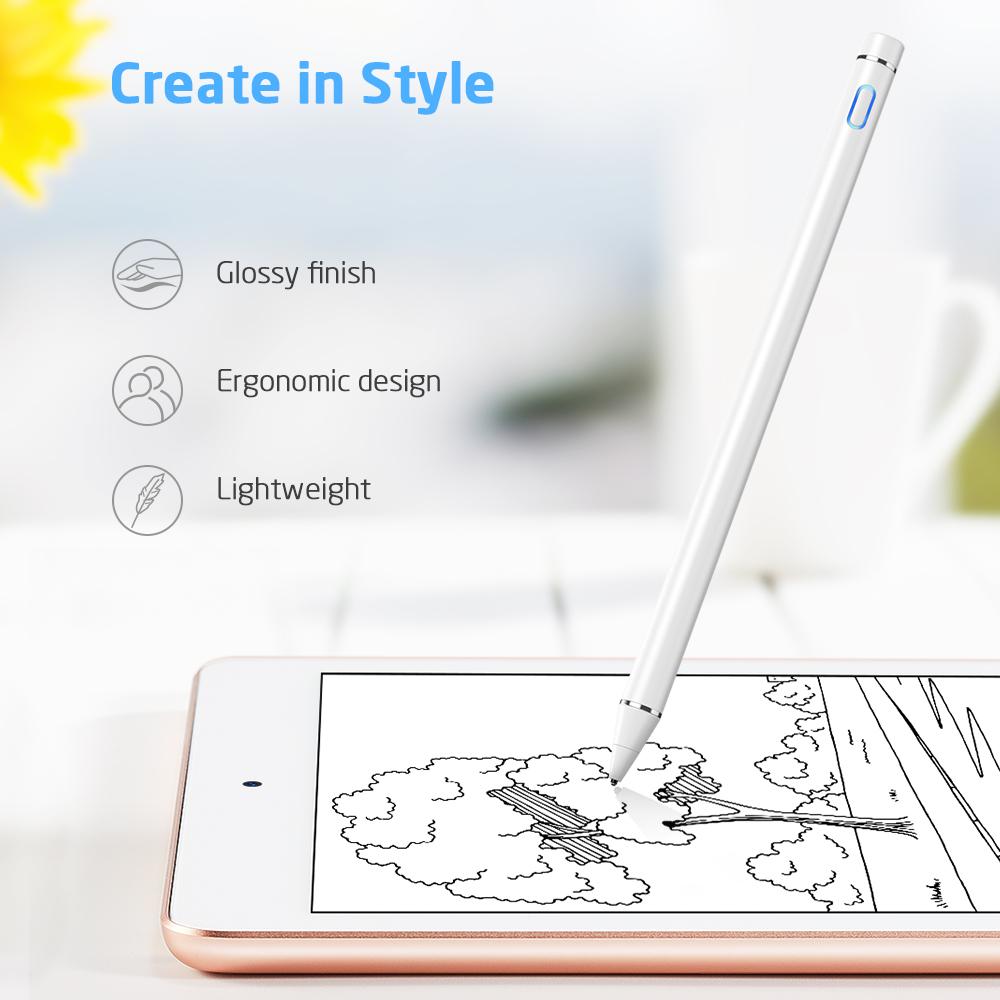Ergonomic designer Digital stylus for touch screen devices