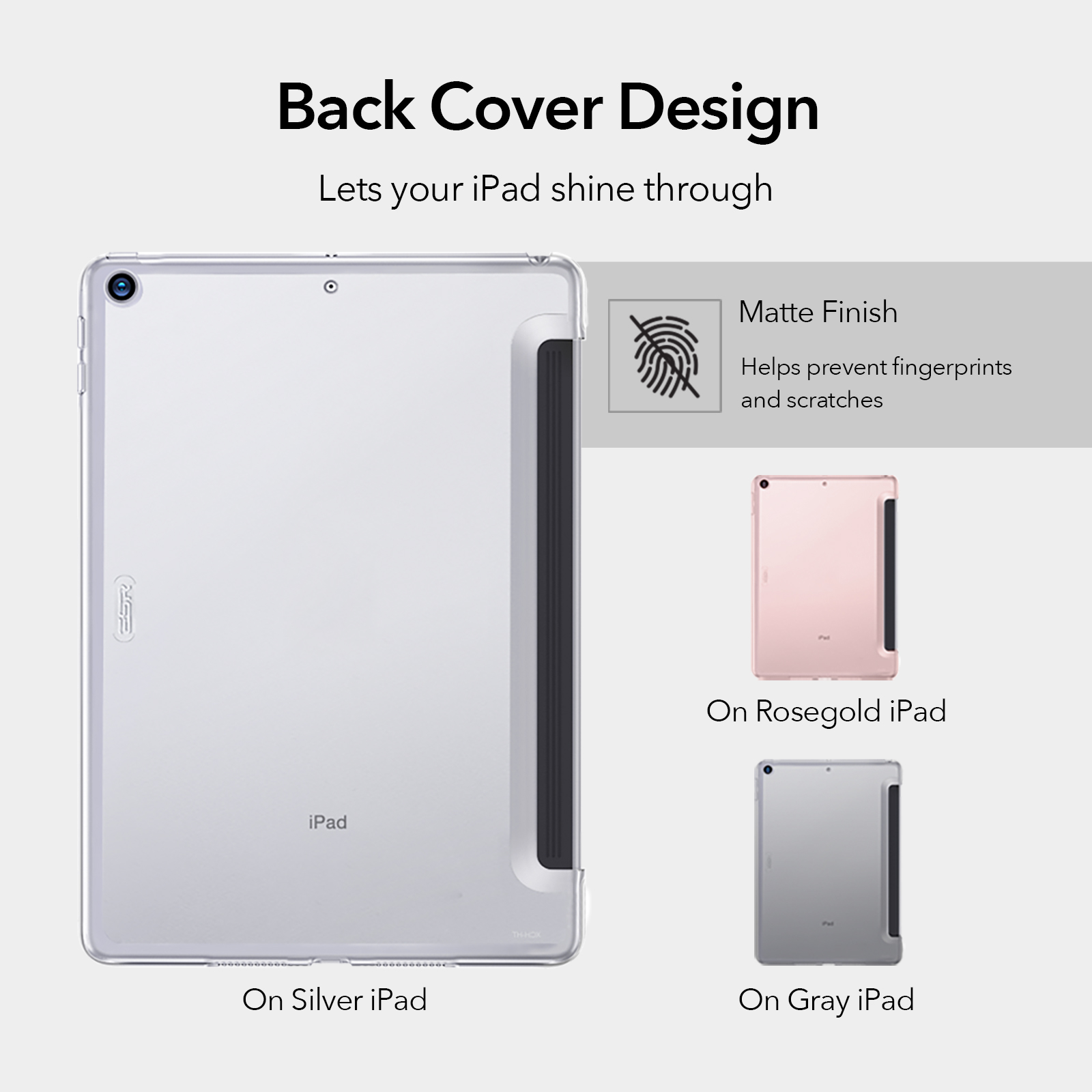 Crystal Clear Hard Back case with matte finish for iPad