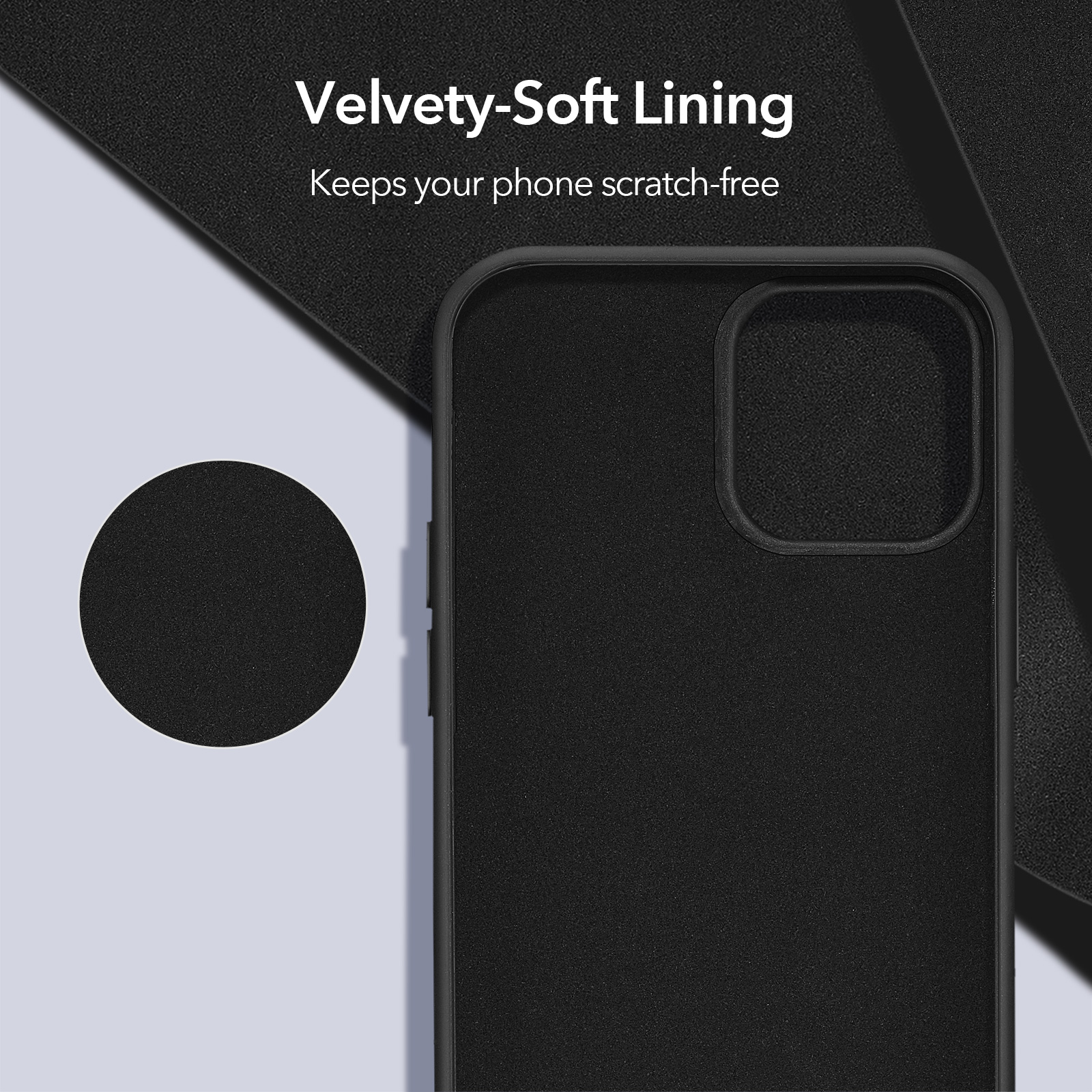 Velvety Soft Lining Silicone case for iphone 12 Pro