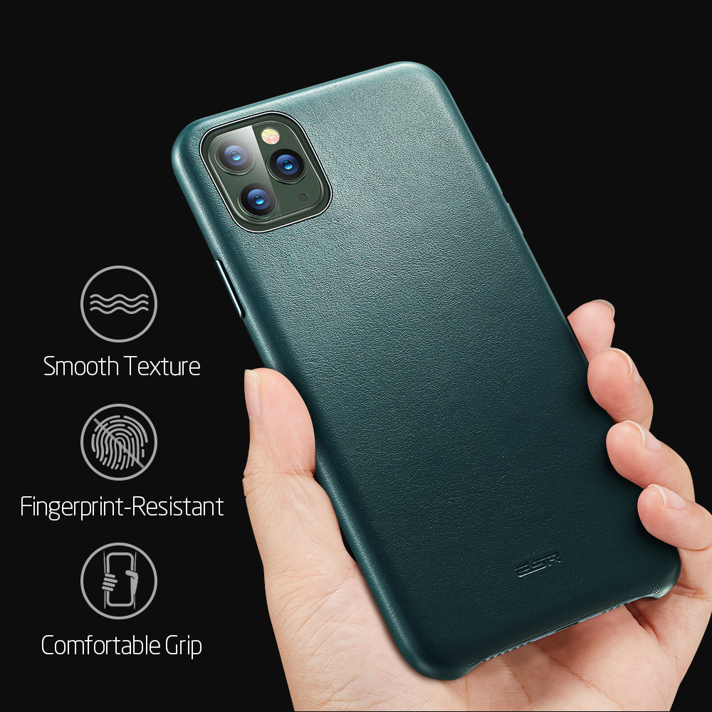 ESR high quality smooth texture leather case for apple device